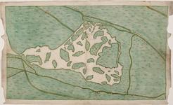 1h14 Kaart van de door afslag verdwenen landen in de Havermeer, 161-?