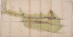 1h15 Kaart van de dorpskernen, hoofdwegen en landerijen van Opmeer en Spanbroek tussen de molen van de polder De Kaag ...
