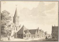 65h162 Zesstedenweg met hervormde kerk, herberg De Zwaan en raadhuis vanuit het noordwesten, 17-