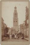 foto-30195 De toren van de Sint Pancratius- of Zuiderkerk te Enkhuizen omstreeks 1900, 1900