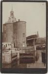 foto-30197 Paktuinen met Drommedaris te Enkhuizen omstreeks 1900, 1900