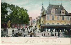foto-5655 Hoorn : Roodensteen met standbeeld van Jan Pietersz Coen, 1906