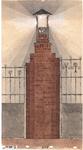 10001084 Ontwerptekening lantaarnpaal van het slachthuiscomplex, Hoorn, Van Dedemstraat, ongedateerd