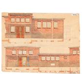 10001086 Gevels hoofdgebouw slachthuis, Hoorn, Van Dedemstraat, ongedateerd