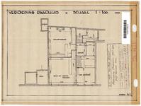 10001092 Verdieping van het Raadhuis, met afdeling Gementewerken, enz., Hoorn, Dorpsstraat 131, ongedateerd