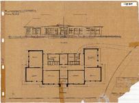 10001117 Plan voor een U.L.O.-school, voorgevel en grondplan, Hoorn, Johan Messchaertstraat 3, ongedateerd