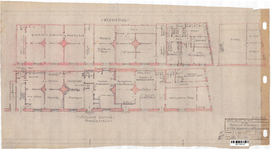 10001256 Plan verbouwing woningen tot uitbreiding arbeidsbeurs en bovenwoning., Hoorn, Pakhuisstraat, ongedateerd