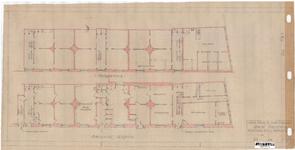10001257 Bestaande toestand woningen enz. en arbeidsbureaus, Hoorn, Pakhuisstraat, ongedateerd