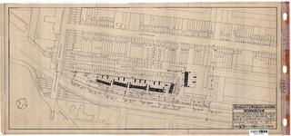 10001310 Plan voor het bouwen van 35 woningen met schuurtjes, situatieschets, Hoorn, Commandeur Ravenstraat, ongedateerd