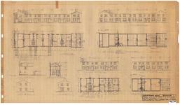 10001311 Plan voor het bouwen van 35 woningen met schuurtjes, blok 3 en 5, Commandeur Ravenstraat 14, 15, 16, 17, 18, ...