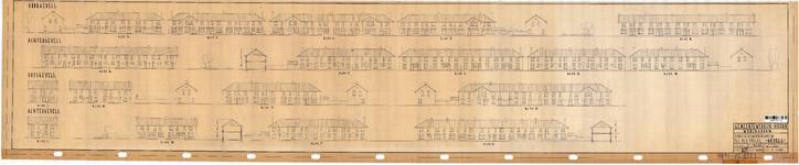 10001321 Arbeiderswoningbouw na den oorlog, geveltekeningen, Hoorn, Commandeur Ravenstraat, ongedateerd