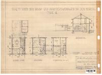 10001334 Schets voor de bouw van arbeiderswoningen na de oorlog: Type E, Hoorn, 1944