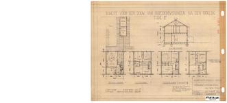 10001335 Schets voor de bouw van arbeiderswoningen na de oorlog: Type F, Hoorn, 1944