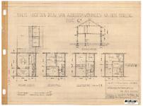 10001336 Schets voor de bouw van arbeiderswoningen na de oorlog: Type G1, Hoorn, 1944