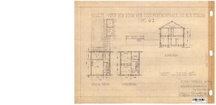 10001337 Schets voor de bouw van arbeiderswoningen na de oorlog: Type G2, Hoorn, 1944