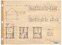 10001338 Schets voor de bouw van arbeiderswoningen na de oorlog: Type H, Hoorn, ongedateerd
