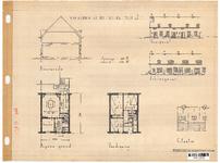 10001339 Schets voor de bouw van arbeiderswoningen na de oorlog: Type J, Hoorn, ongedateerd
