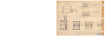 10001340 Schets voor de bouw van arbeiderswoningen na de oorlog: Type K, Hoorn, ongedateerd