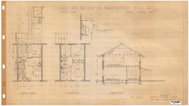 10001341 Schets voor de bouw van arbeiderswoningen na de oorlog: Type L, Hoorn, 1944