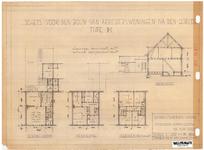 10001342 Schets voor de bouw van arbeiderswoningen na de oorlog: Type M, Hoorn, 1944