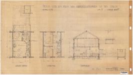 10001343 Schets voor de bouw van arbeiderswoningen na de oorlog: Type N, Hoorn, 1944
