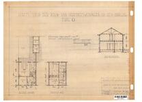 10001344 Schets voor de bouw van arbeiderswoningen na de oorlog: Type O, Hoorn, 1944