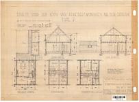 10001345 Schets voor de bouw van arbeiderswoningen na de oorlog: Type P1, Hoorn, 1944