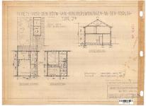 10001346 Schets voor de bouw van arbeiderswoningen na de oorlog: Type P2, Hoorn, 1944