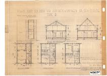 10001347 Schets voor de bouw van arbeiderswoningen na de oorlog: Type R, Hoorn, 1944