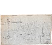 10001348 Ontwerp voor sportpark aan de Buiten Luiendijk, inclusief aanzicht van tribune met plattegrond en terras met ...