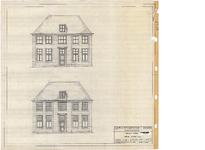 10001368 Voorgevel plannen, Hoorn, Achterom 2-4, ongedateerd