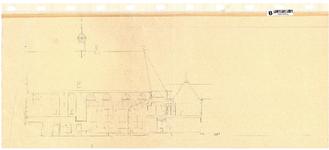 10001428 Gevelaanzicht geveltekening Ceciliakapel met kleine doorsnede aangrenzend bouwdeel, Hoorn, Nieuwstraat 23, ...