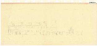 10001433 Gevelwand geveltekening tussen Gouw 2 en Korte Achterstraat 16, Hoorn, Korte Achterstraat, ongedateerd