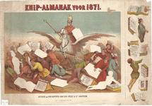 centpr.3 Knip-Almanak voor 1871 (in hoes met centpr.2 en 1) (St.Nicolaas op Pegasus M, kinderen met kalenders L. en R, ...