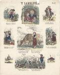 centpr.15 t'Landleven. No. 47 (in hoe met 14) (3 rijen van 3 prenten met twee- en meerregelige rijmpjes), 1874