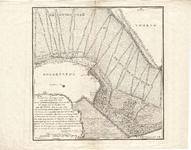 D18-12 Kaart en aftekening,van een Gedeelte van het Goereesche Zee-gat, als mede een Gedeelte van de rivier Flacquee, ...