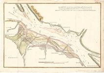 D18-20 Kaartje van de tegenswoordige gesteldheid,met de Aangelegen Buitenlanden Gorsen en Schorren… , ca. 1790