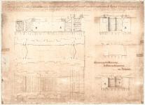 D18-21 Tekening van het Sas of Schutsluis in de Haven van Dirksland;Gemaakt onder directie van de Heeren Cornelis van ...