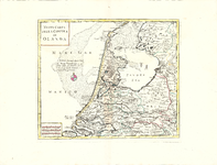 B18-10 Nuova Carta della Contea di Olanda , ca. 1745