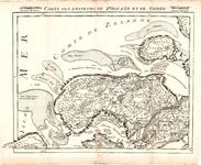 B18-19 Carte des environs de Ziriczée et de Gorée , 1747