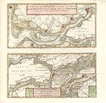 B18-34 Kaart van de beneden rivier de Maas en de Merwede, van de Noordzee tot Gorinchem , ca. 1745