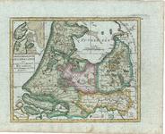 B18-37 Carte generale des IX de la Hollande , 1748