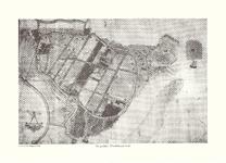 16-03a+b De polder Dirksland 1585 , ca. 1980, origineel 1585