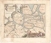 D17-55 Caerte van Zeeland. , origineel 1696, herdruk ca.1850