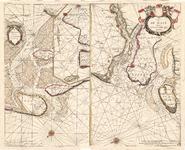 C17-15 Caarte van de Mase ende het Goereesche gat. en De Texel Stroom met de gaten van't Marsdiep , 1668