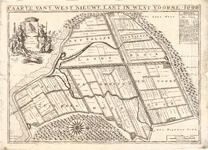 D17-07 Caarte vant West Nieuwe Lant in West Voorne 1696 , 1696