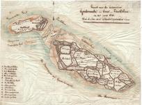 B19-39 Kaart van de Eilanden Goedereede en Over-Flakkee in het jaar 1750. toen de-zelve van elkander gescheiden waren ...
