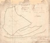 C19-25 Schetsteekening der grenzen van de Galathée en Maria Polders onder Ooltgensplaat , 1858