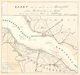 C19-26 Kaart van een gedeelte van het Haringvliet tusschen Goedereede en het Spui. Voor de laatste verlenging der Haven ...