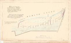 C19-27 Kaart van de buitengronden bewesten de haven van Middelharnis… (zie cat.nr. C19-26, C19-28 en C19-29), 1859